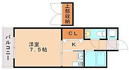 エステート・モア高宮セゾン[2階]の間取り