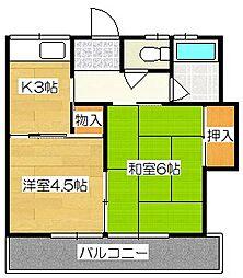 高田アパート[2階]の間取り