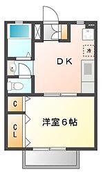 桜フラッツ[2階]の間取り