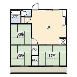 レピュート石川[A203号室]の間取り