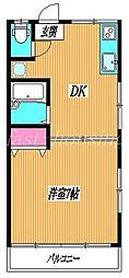 東京都武蔵野市吉祥寺南町4丁目の賃貸アパートの間取り
