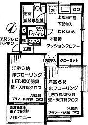 埼玉県川口市元郷5の賃貸マンションの間取り