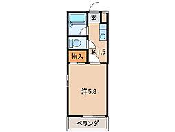 ハイツアネシスII[1階]の間取り