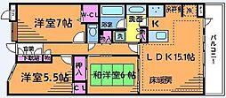 ランドステージ調布多摩川ペイサージュ[2階]の間取り
