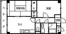 デアベルク夙川[305号室]の間取り