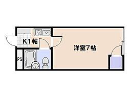第6ファニー幸[309号室]の間取り