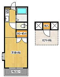 サンシャイン21B[206(0)号室]の間取り