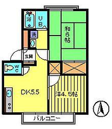 第3クリーンハイツ[2階]の間取り