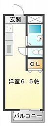 サマックス江坂[2階]の間取り