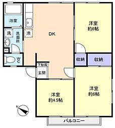ゆりのき台エステートハイツ[1階]の間取り