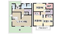 [テラスハウス] 愛知県名古屋市名東区平和が丘5丁目 の賃貸【/】の間取り