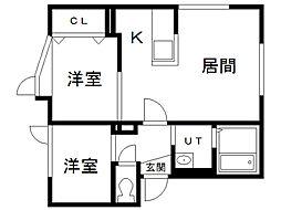 北海道札幌市北区麻生町7丁目の賃貸アパートの間取り
