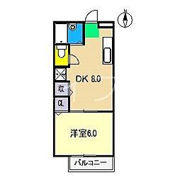 ラピス B棟[2階]の間取り