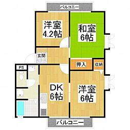 クレスト堺II[201号室]の間取り