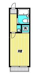 JR中央本線 国分寺駅 徒歩4分の賃貸アパート 2階1Kの間取り