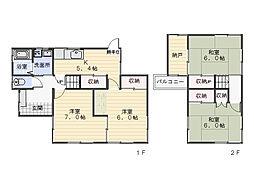 [一戸建] 神奈川県横須賀市神明町 の賃貸【/】の間取り
