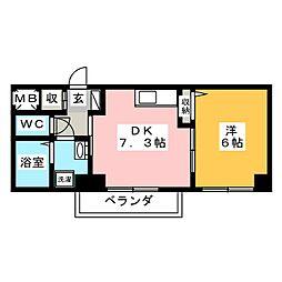 is常盤[3階]の間取り