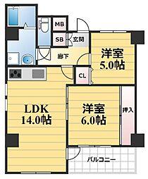 ロベリア弐番館[7階]の間取り