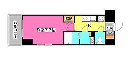 西武池袋線 西所沢駅 徒歩5分の賃貸マンション 10階1Kの間取り