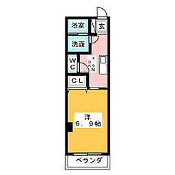 仮称 大喜新町2丁目共同住宅 4階1DKの間取り