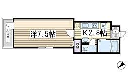 Grotta blu Komagome[101号室]の間取り