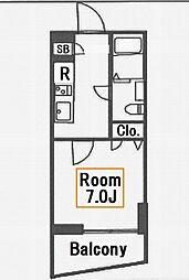 レオーネ亀戸[13階]の間取り