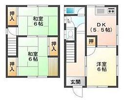 [タウンハウス] 兵庫県姫路市白国5丁目 の賃貸【/】の間取り