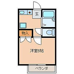 東京都江戸川区中葛西8の賃貸アパートの間取り
