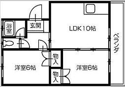 矢田マンション[1階]の間取り