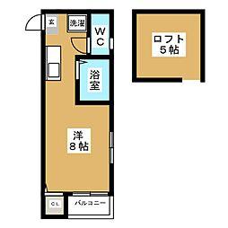 ソフィー箱崎[1階]の間取り