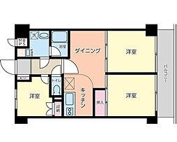 ハイホーム目黒[8階]の間取り