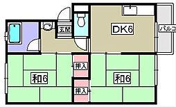 双康マンション[2階]の間取り