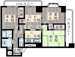 824−レーヴ富士見台[8階]の間取り