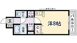 兵庫県伊丹市山田6丁目の賃貸アパートの間取り