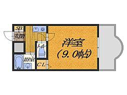 大阪府堺市堺区戎之町東1丁の賃貸マンションの間取り