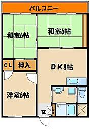 長尾マンション[3階]の間取り