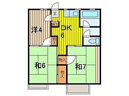コーポ内田[202号室]の間取り