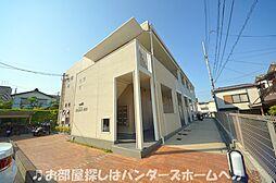 大阪府枚方市東山1の賃貸アパートの外観