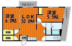 倉ビルマンション[6階]の間取り