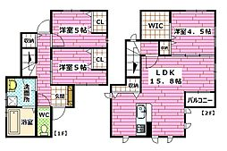 [一戸建] 広島県広島市安佐南区伴東1丁目 の賃貸【/】の間取り