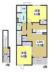 パルテ・カナーレIII[2階]の間取り