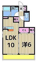 東京都葛飾区堀切8丁目の賃貸アパートの間取り
