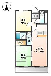 ア−クヒル[11階]の間取り
