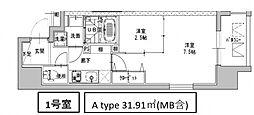 ミラージュパレス南船場[801号室号室]の間取り