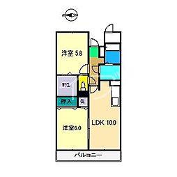 ソレイユ神田[3階]の間取り