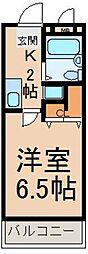 東京都八王子市宇津木町の賃貸マンションの間取り