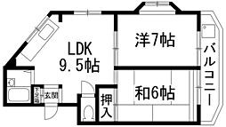 シャレード中山寺[2階]の間取り