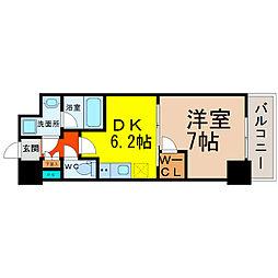 愛知県名古屋市北区大曽根1丁目の賃貸マンションの間取り
