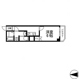 ヴェルドミール小阪[4階]の間取り