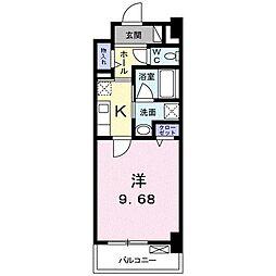 高松琴平電気鉄道琴平線 三条駅 徒歩11分の賃貸マンション 6階1Kの間取り